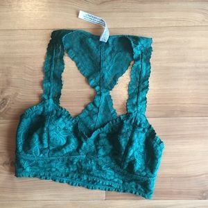 Free people green racerback bralette